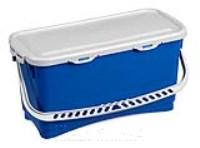 HERMETIC Eimer 20 Liter blau mit Griff und Deckel