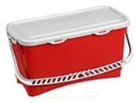 HERMETIC Eimer 20 Liter rot mit Griff und Deckel