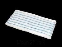 Poly-Handpad weiß mit blauen Polyesterstreifen