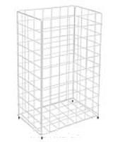 CWS Großraumpapierkorb Stahldraht weiß 60 l (Typ 301)