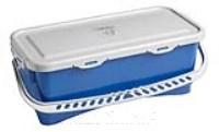 HERMETIC Eimer 10 Liter blau mit Griff und Deckel