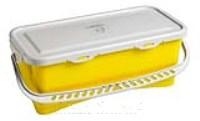 HERMETIC Eimer 10 Liter gelb mit Griff und Deckel
