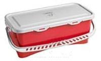 HERMETIC Eimer 10 Liter rot mit Griff und Deckel