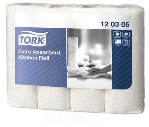Küchenrolle 26x24,7cm Tissue Hochweiss 3lg Perforiert VE:12x48Rollen Premium