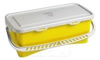 HERMETIC Eimer 20 Liter gelb mit Griff und Deckel