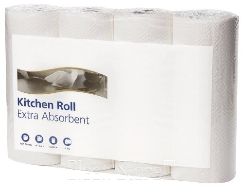 Küchenrolle 2-lagig Tissue hochweiß, 12x4 Ro. à 64 Blatt (24x26cm)