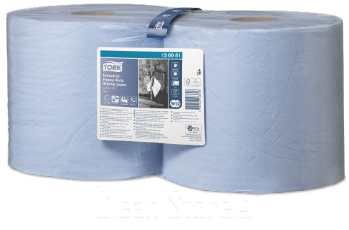 Tork Extra Starke Industrie Papierwischtücher blau 350 Tücher Premium (W1,W2)