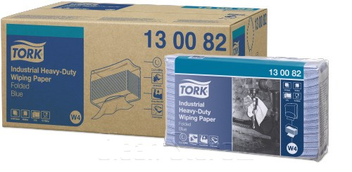 Tork Extra Starke Industrie Papierwischtücher blau 100 Tücher Premium (W4)