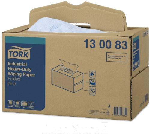 Tork Extra Starke Industrie Papierwischtücher blau 200 Tücher Premium (W7)