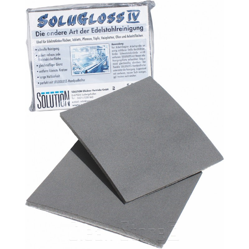 Solugloss 4, Edelstahlreinigungshandpad 15x12cm