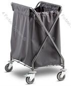 Flexibler Wäschewagen mit Klappmechanismus,Polyestersack mit Klettverschluss 300 Ltr.grau