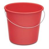 Haushaltseimer 10 l rund, rot